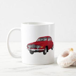 Saab 96, red, coffee mug