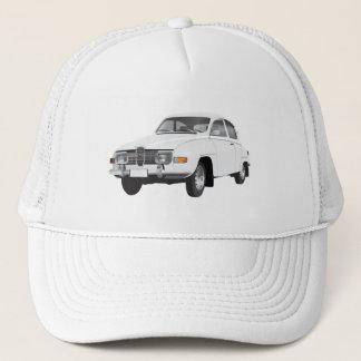 Saab 96 white trucker hat