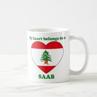 Saab Classic White Coffee Mug