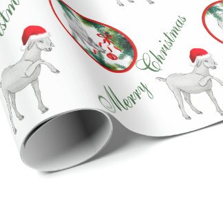 Saanen And Baby Goat Christmas Wrapping Paper