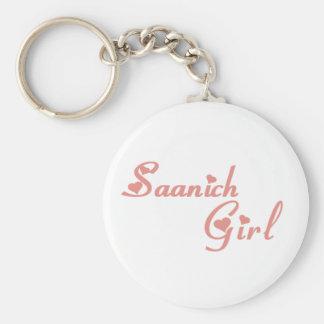 Saanich Girl Basic Round Button Keychain