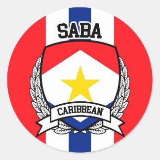 Saba Classic Round Sticker