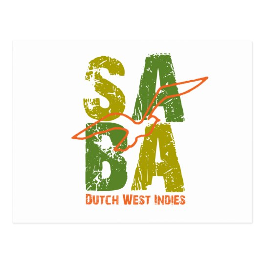 Saba DWI Postcard
