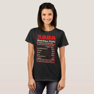Saba Nutrition Facts Unconditional Love Tshirt