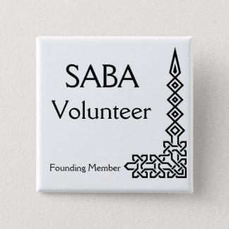 SABA, Volunteer, Founding Member 2 Inch Square Button