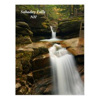 Sabaday Falls , NH   Postcard