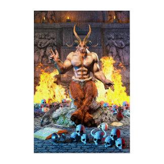 Sabbatic Goat Satanic Baphomet Acrylic Print