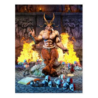 Sabbatic Goat Satanic Baphomet Postcard