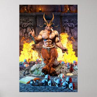 Sabbatic Goat Satanic Baphomet Poster