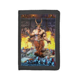 Sabbatic Goat Satanic Baphomet Tri-fold Wallet
