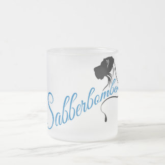 Sabberbomber 10 Oz Frosted Glass Coffee Mug
