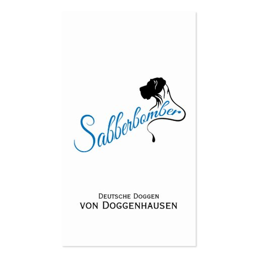 Sabberbomber Business Cards