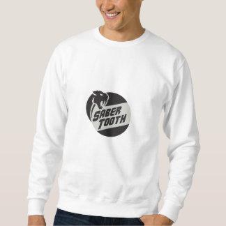 Saber Tooth Tiger Cat Head Circle Retro Sweatshirt