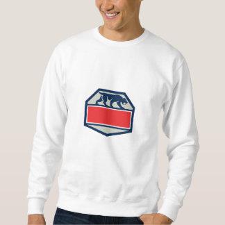 Saber Tooth Tiger Cat Hexagon Retro Sweatshirt
