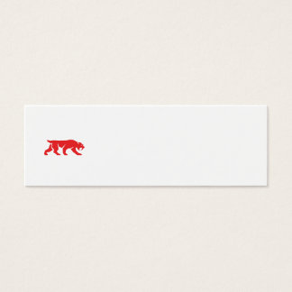 Saber Tooth Tiger Cat Silhouette Retro Mini Business Card