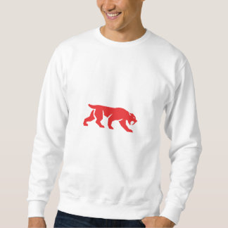 Saber Tooth Tiger Cat Silhouette Retro Sweatshirt