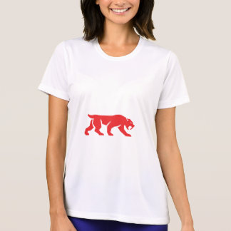 Saber Tooth Tiger Cat Silhouette Retro T-Shirt