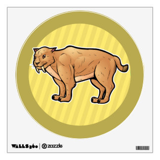 Saber Toothed Cat Wall Decal