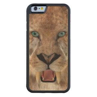 Saber Toothed Ttiger or Smilodon Carved Maple iPhone 6 Bumper Case