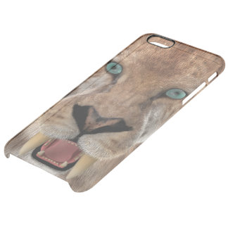 Saber Toothed Ttiger or Smilodon Clear iPhone 6 Plus Case