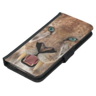 Saber Toothed Ttiger or Smilodon Samsung Galaxy S5 Wallet Case