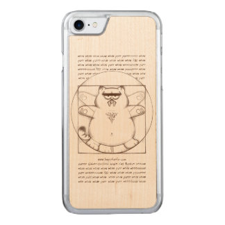 Saber-toothed Virtuvian: Wood Carved iPhone 7 Case
