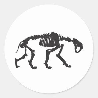 sabertooth round sticker