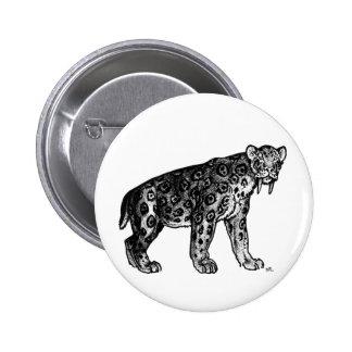 Sabertooth!! Smilodon Button Badge