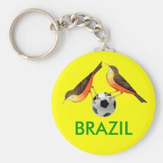 Sabia with ball Brasil futebol lovers gifts Keychain