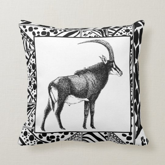 Sable Antelope Cushion