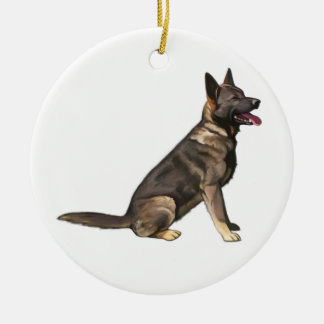 Sable German Shepherd Dog Ceramic Ornament