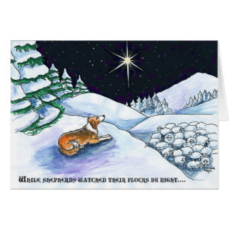 Sable sheepdog Christmas card