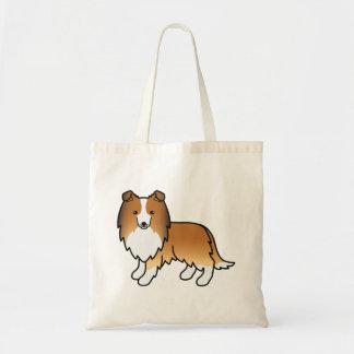 Sable Sheltie Cartoon Dog Tote Bag
