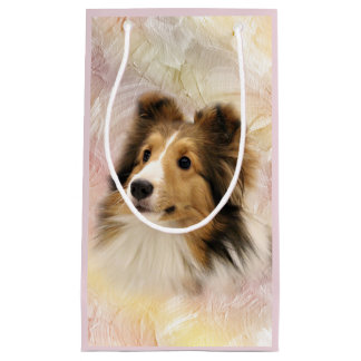 Sable Sheltie face Small Gift Bag