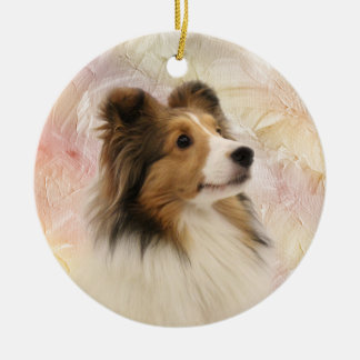 Sable Shetland Sheepdog Ceramic Ornament