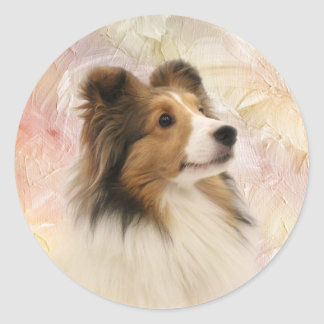 Sable Shetland Sheepdog Classic Round Sticker