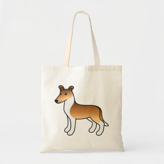 Sable Smooth Collie Cartoon Dog