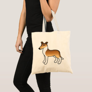 Sable Smooth Collie Cartoon Dog Tote Bag