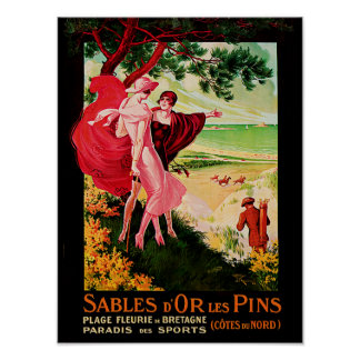 Sables d'Or Les Pins Poster