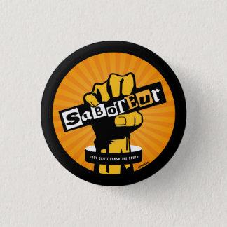 Saboteur pin badge
