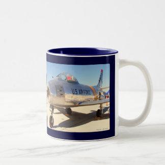 Sabre Jet - Korean War, Sabre Jet - Korean War Two-Tone Coffee Mug