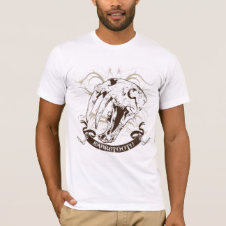 Sabre-tooth Cat Skull Version2 T-Shirt