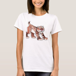 Sabretooth Tiger Ladies Fitted T-Shirt