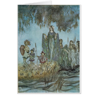 Sabrina Rises, attended by Water Nymphs Card