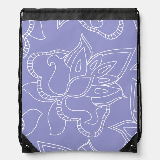 Sac à dos floral pourpre violet
