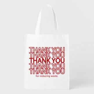 Sac à provisions réutilisable d'épicerie drôle de sacs d'épicerie réutilisables