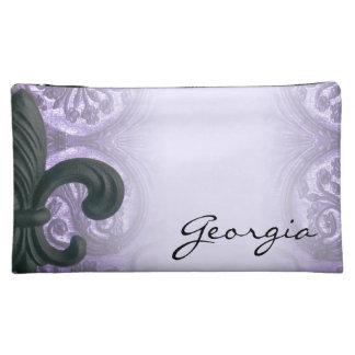 """sac cosmétique lilas de """"iron fleur de lis"""" pochettes make-up"""
