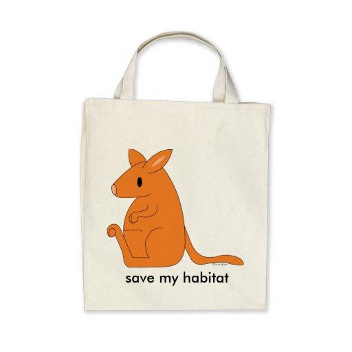 sac d'épicerie organique de kangourou