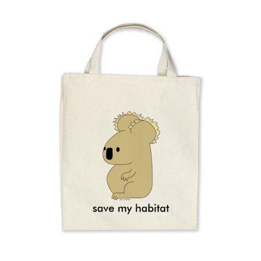 sac d'épicerie organique de koala