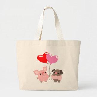 Sac embrouillé de coeurs (porcs de bande dessinée)